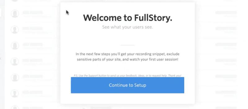 FullStory's original onboarding sequence step 7