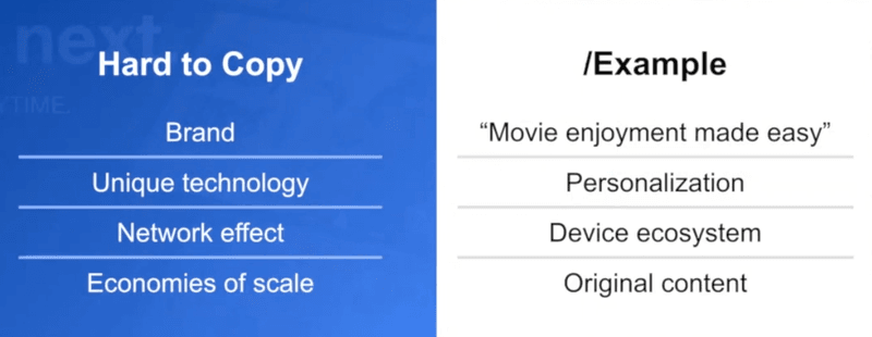 Why Netflix is hard to copy