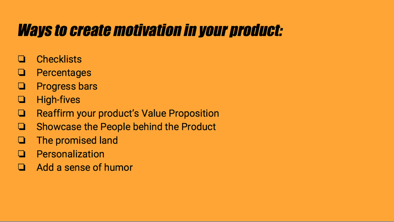 Ways To Create Motivation In Your Product