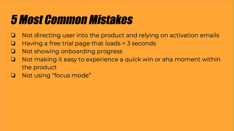 Five Most Common Mistakes