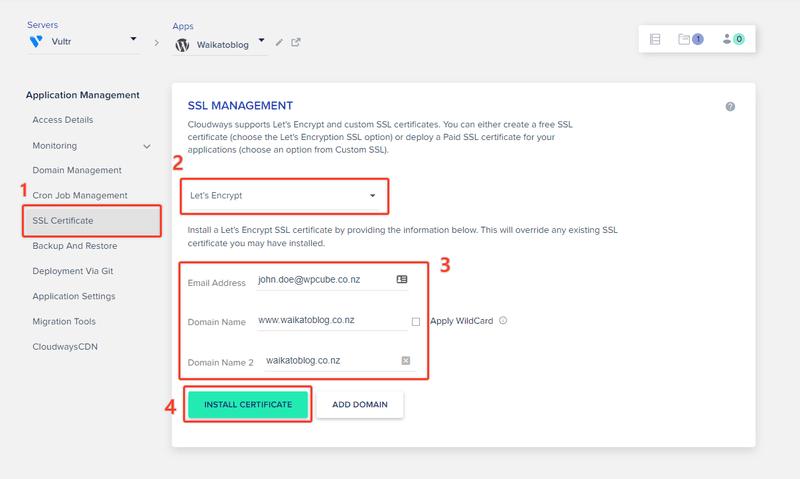 SSL certficate how to start a blog