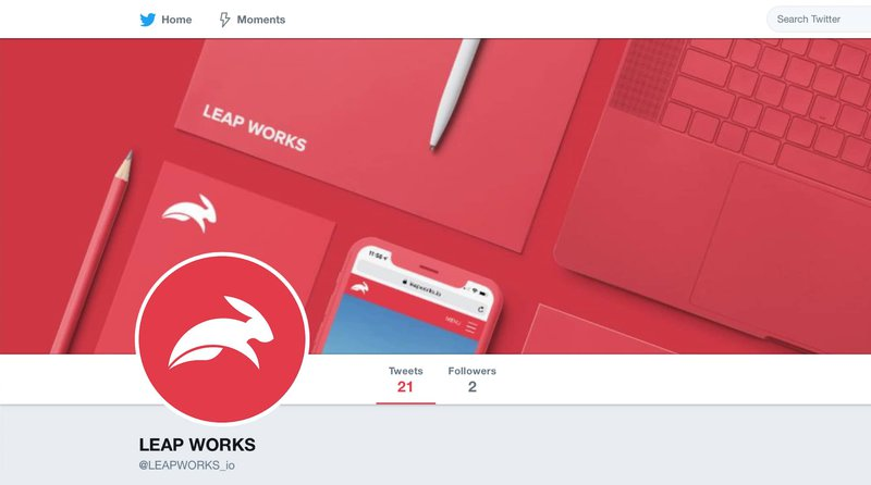 LEAP WORKS Twitter page