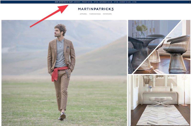 MartinPatrick3 offers valet parking.