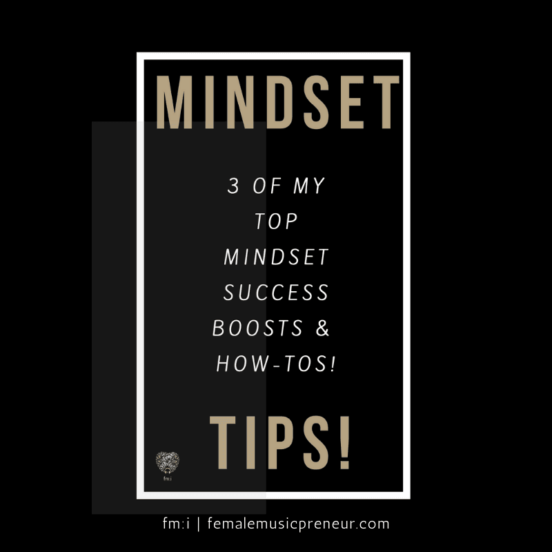 Graphic of 3 of My Top Mindset Success Tips Free Guide