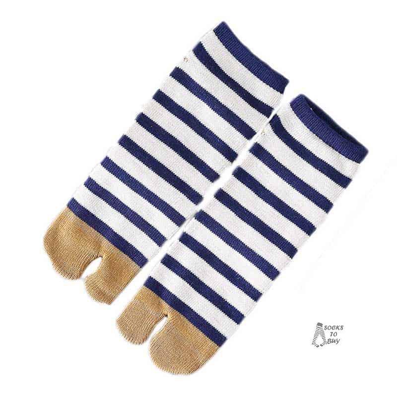 striped tabi socks