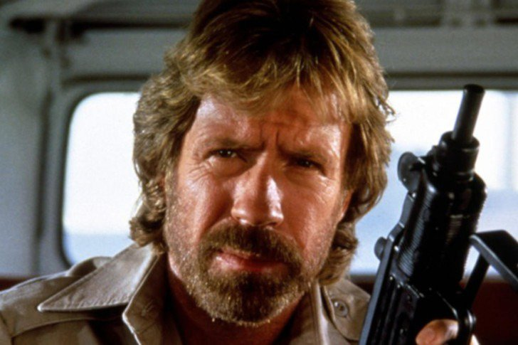 chuck norris holding a gun reminding you to backup your website