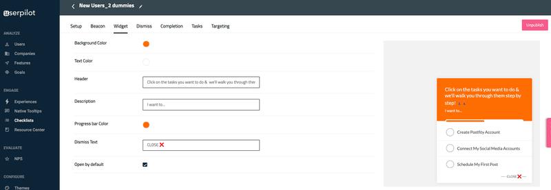 customize widget text in Userpilot