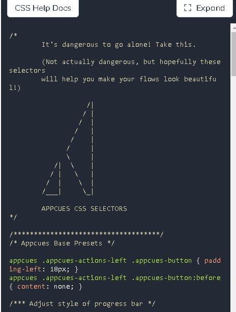 Appcues CSS selectors