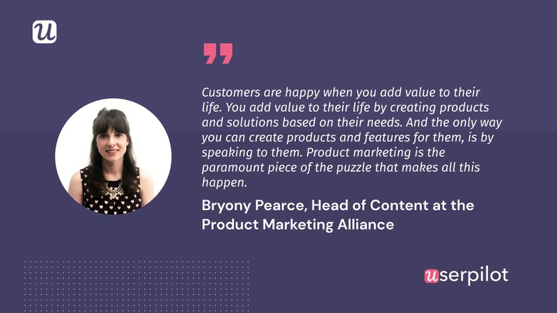 bryony pearce - product marketing alliance quote