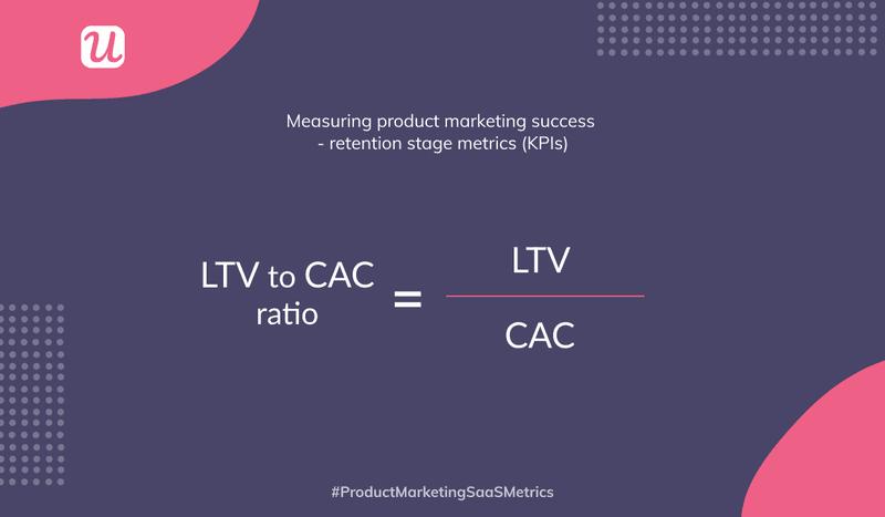 LTV/CAC ration user retention metrics