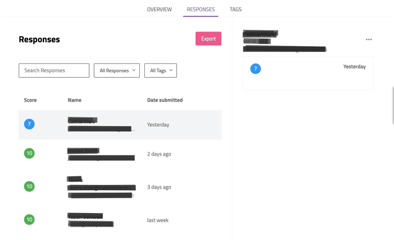 Tagging responses by features