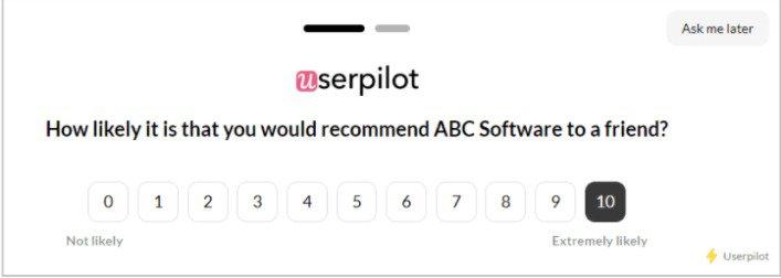 user engagement metrics nps score