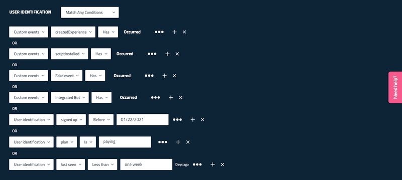 Userpilot customer segmentation
