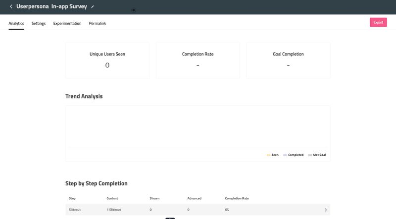 userpilot in app survey results