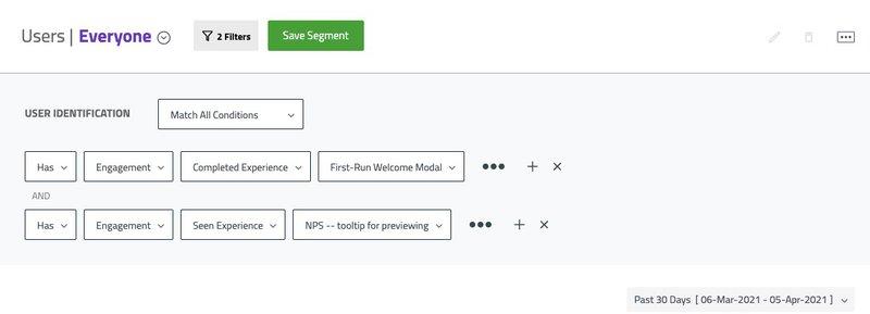 userpilot customer segmentations