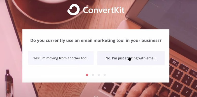 Convertikit welcome screen customer engagement