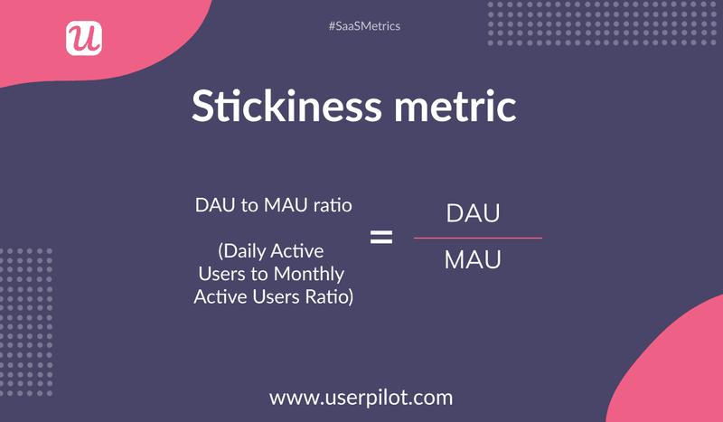 Stickiness metric formula