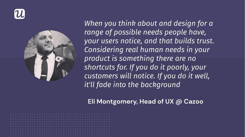 Eli Montgomery User Engagement Quote