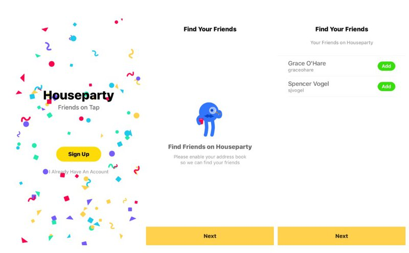 house party invited user onboarding