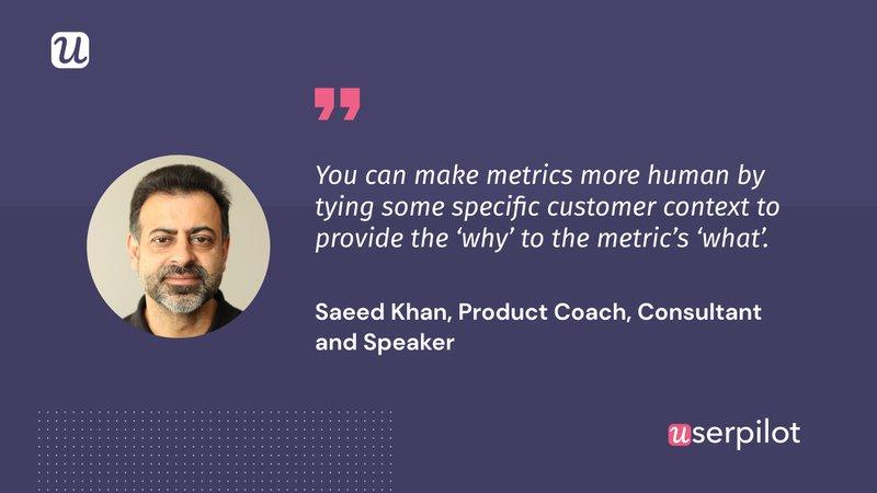 Saed Khan Customer retention metrics quote