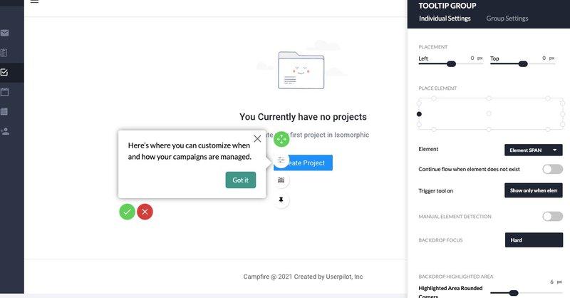 Userpilot Standard tooltip template