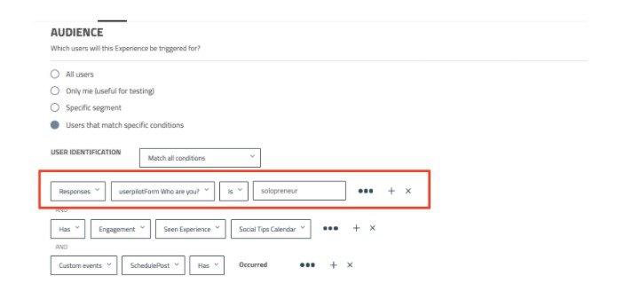 userpilot segmentation