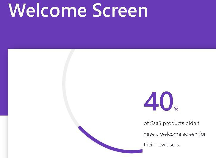 Welcome screens and user adoption metrics
