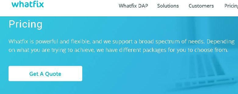 Whatfix pricing - not transparent