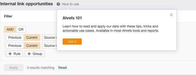 ahrefs tool tips