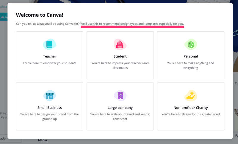 canva personal onboarding