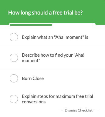 How long should your free trial be? Checklist