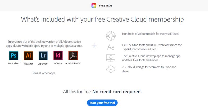Adobe CC Free Trial