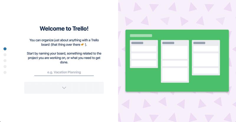 Trello welcome screen