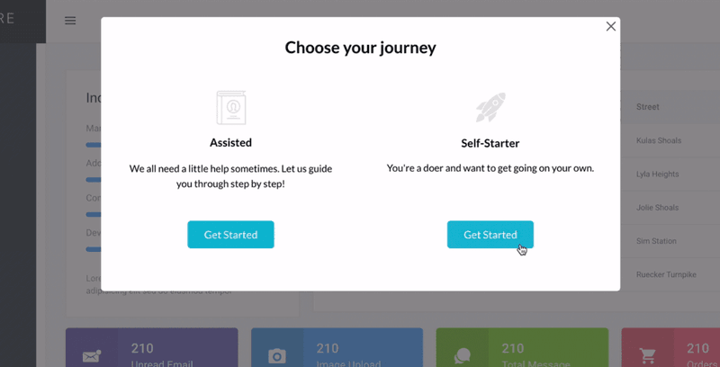 Userpilot welcome screen