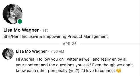 Lisa Mo Wagner: Linkedin Connection