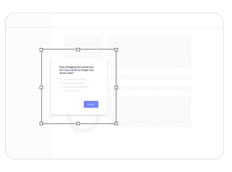 saas micro-survey template popover