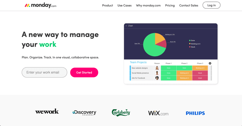 new product adoption monday landing page