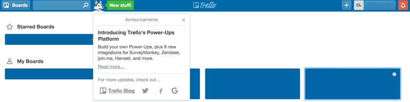 new product adoption trello notification
