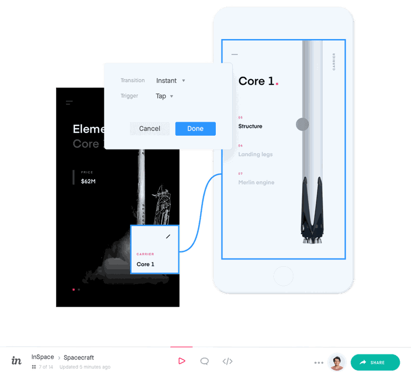 invision screenshot