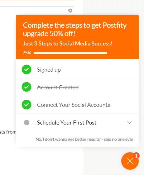 postfity user engagement checklist