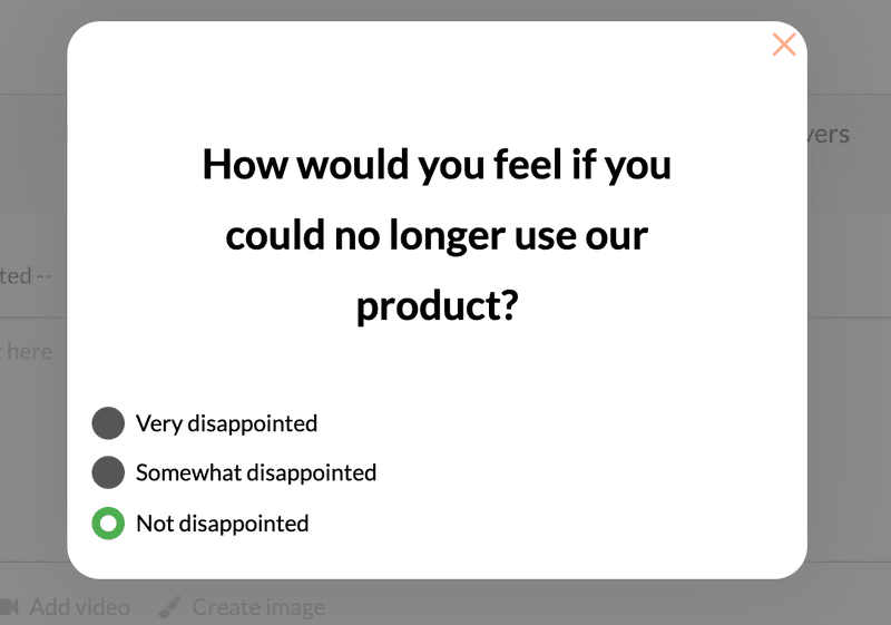 userpilot product-market fit micro-survey