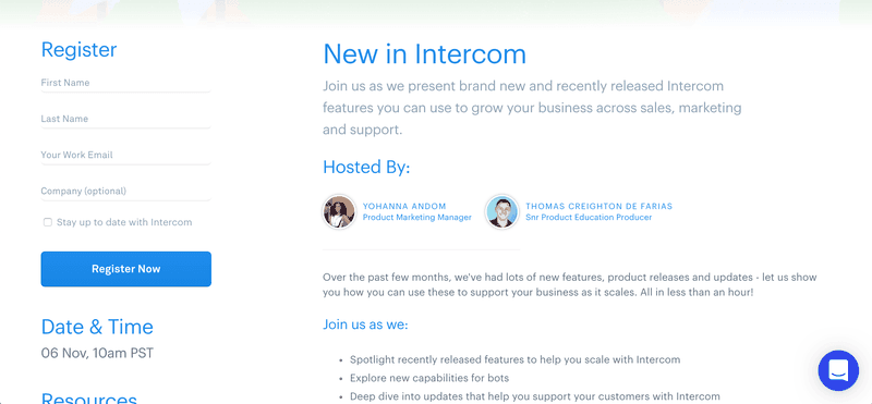 how intercom educate customers