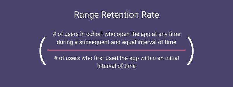 range retention rate formula