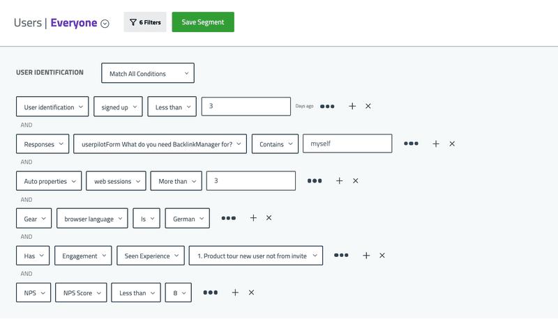 userpilot user segments