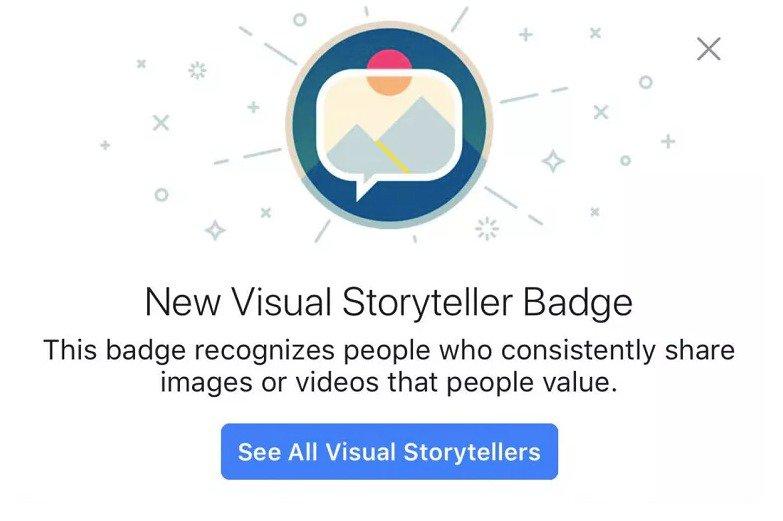 visual story teller badge
