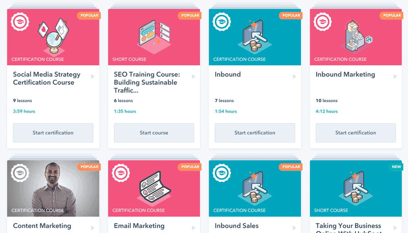 hubspot self-serve onboarding academy