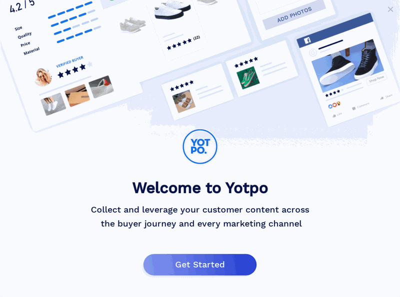 yotpo self-serve onboarding welcome