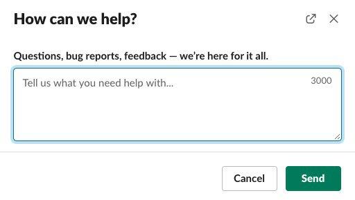 How Slack gathers in-app feedback