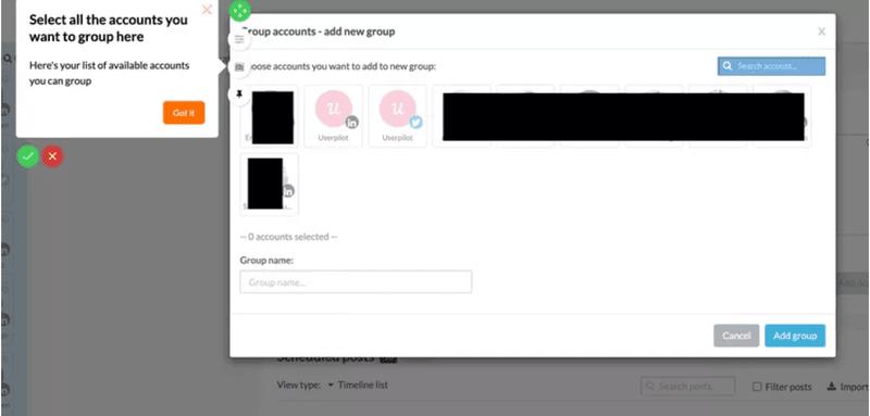 walkthrough tooltip from Userpilot