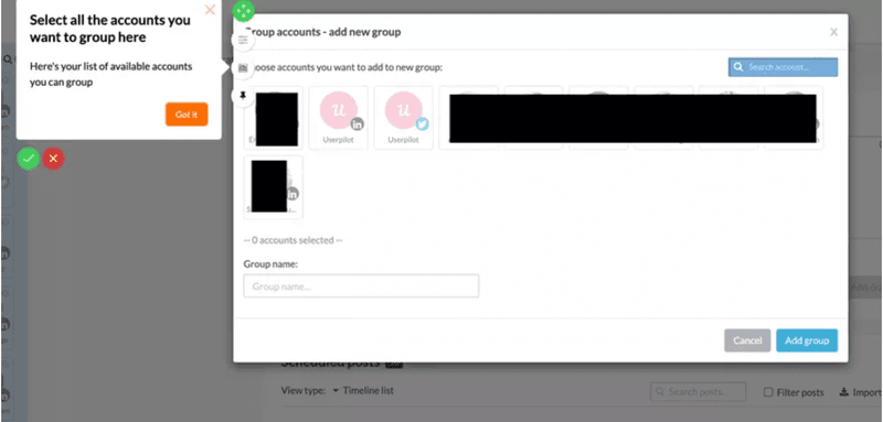 Userpilot group creation